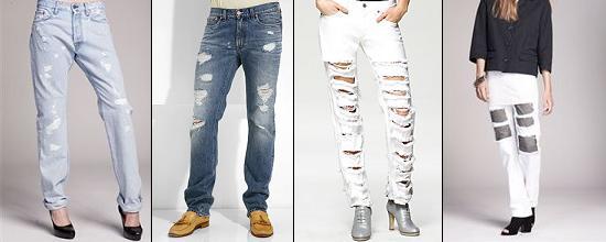 Как сделать джинсы дырявыми красиво